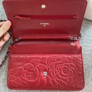 CHANEL Bags - Chanel Camellia Wallet On Chain